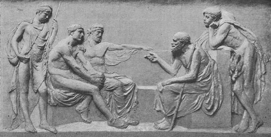 Socrates Teaching in the Agora — sculpture, Harry Bates, 1883