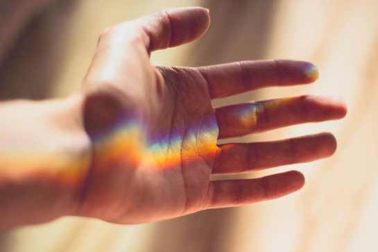 hand-light-sunlight-rainbow